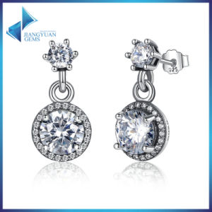 2016 Fashion Round White Stone Stud Earrings pictures & photos