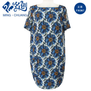 Fashion Ladies Plant Print Dress pictures & photos
