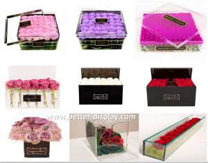Professional Manufacturer of  Clear Acrylic Flowers Box pictures & photos