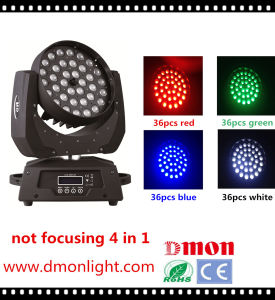 LED Stage Light 36*10W Moving Head Light 5 in 1 Rgbwy Light pictures & photos