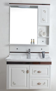 2017 New Weidansi PVC Bathroom Cabinet with Ceramic Basin Wdso18 pictures & photos
