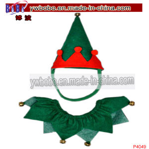 Elf Costume Pets Hat Collar Christmas Party Gift Present (C4049) pictures & photos