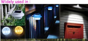 Solar Power Panel Lights 3 LED Light Sensor Outdoor 1W Fence Gypsum Wall Lamp SL1-2 pictures & photos