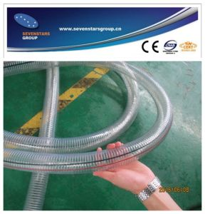 PVC Steel Wire Enhancement Pipe Extrusion Line pictures & photos