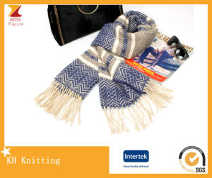 High Quality Jacquard Knitting Scarf for Women pictures & photos