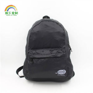 Customized Logo Black Drawstring Backpack Bag pictures & photos