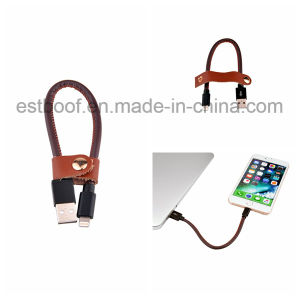 Leather Wrapped USB Cable with Lightning Connector pictures & photos