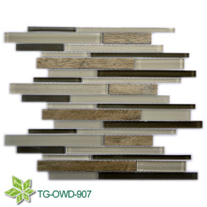 Strip Mixed Color Glass Mixing Tiles/Glass Mosaic (TG-OWD-907) pictures & photos