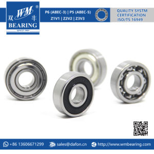 Auto Motorcycle Engine Motor Parts Deep Groove Ball Bearing (6201-2RS) pictures & photos