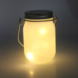 Hanging Firefly Shine Lights Jar with Solar Lid pictures & photos