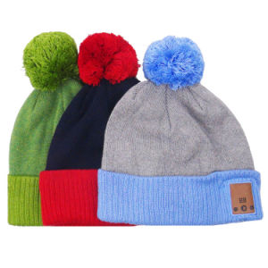 Fashion Blue Tooth Pompom Knitted Hat pictures & photos