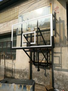 Good Quality Black PU Padding Wall Mounted Height Adjustable Basketball Stand System pictures & photos