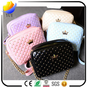 Korean Version Candy-Colored Ladies Zipper Wrist Band Leather Wallet pictures & photos