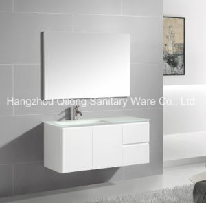 PVC Vanity with Left/Right Glass Basin in Bathroom pictures & photos