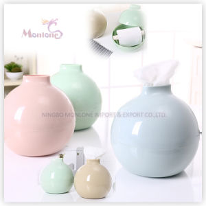 Bomb-Shaped Colorful Plastic PP Round Tissue Box 17*17cm pictures & photos