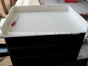 Acrylic Solid Surface Custom Sized Made Corian Tabletop Vanity Top pictures & photos