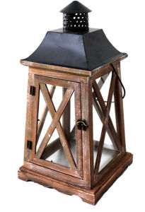 Chinese Metal Iron Wood Lantern for Christmas