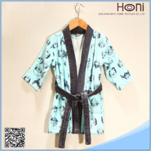 China Supplier 100% Cotton Kids Bathrobe