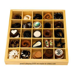 Yellow Color Body Jewelry Wood Counter Display pictures & photos