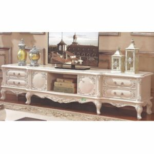 Wooden TV Stand with Flower Stand for Living Room Furniture pictures & photos