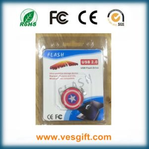 Cartoon Gift Super Hero Captain America USB Disk pictures & photos