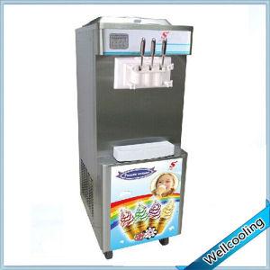 Floor Stand Frozen Yogurt Maker with 3 Flavors pictures & photos