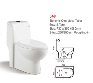 349 White Siphonic One-Piece Toilet pictures & photos