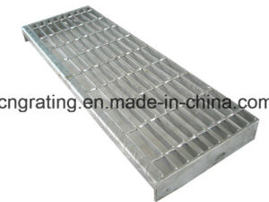 Hot Dipped Galvanized Steel Bar Grating Stair Tread in China pictures & photos