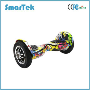 Smartek 10 Inch Self Balance Scooter 2 Wheels Zebra Cross-Country Electric Hoverboard with UL S-002-1 pictures & photos