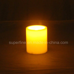 Amber Color Flickering Grave LED Plastic Candles with Battery Operated pictures & photos