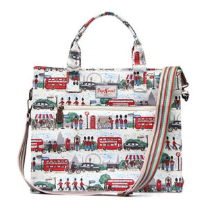 Red Soldiers Patterns PVC Canvas Small Size Handbag (592987S-3) pictures & photos