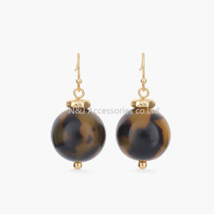 New Charm Resin Beads Alloy Charm Fashion Earrings Wholesale pictures & photos