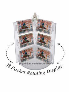 New 18 Pocket Clear Acrylic Spinning Display Rack pictures & photos