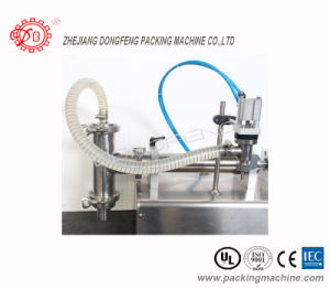 Semi-Auto Filling Machine Table-Top Single Nozzles Paste Filler pictures & photos