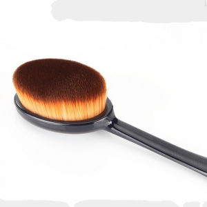 High Quality Single Black Oval Foundation Makeup Brush pictures & photos