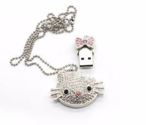 Pendrive Janpan Cat Jewelry Crystal Cartoon USB Flash Drive pictures & photos