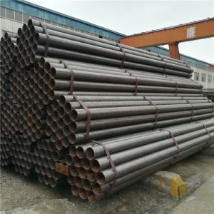 ASTM A53 A500 API 5L BS1387 ERW Black Steel Pipes with Anti-Rusted Oil pictures & photos