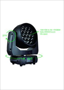 19*15W LED Wash Beam Light DMX Moving Head Stage Lighting pictures & photos