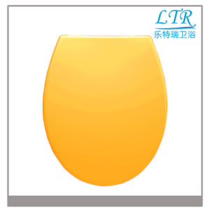 D Shape Solid Color Toilet Seat Cover with Soft Close Toilet Seat Damper pictures & photos