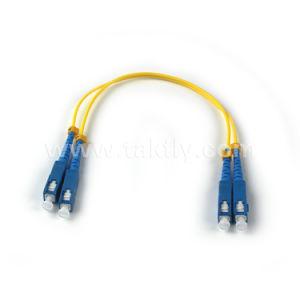 Fiber Optic Patch Cord SC/PC-SC/PC Duplex Fiber Patch Cord pictures & photos