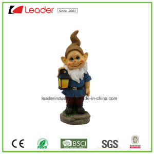 Best-Seller Polyresin Garden Dwarf Statue with a Lantern for Home and Garden Decoraiton pictures & photos