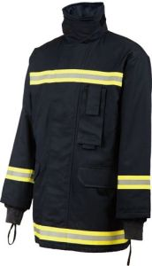 Flame Retardant Jacket with Reflective Tape for Safety Wear pictures & photos