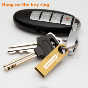 Gold Custom Logo Metal Mini Keyring USB3.0 Pendrive (YT-3295-02) pictures & photos