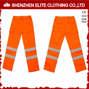 Traffic Reflective Orange Workwear Safety Pants Waterproof (ELTHVPI-26) pictures & photos