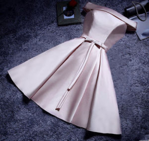 2017 Satin Bowknot Evening Party Bridesmaid Prom Dress (Dream-100041) pictures & photos