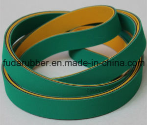 Green and Yellow Hot Sell China Nylon Flat Transmission Belt pictures & photos