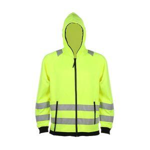 Custom Zip up Reflective Hooded Sweatshirt
