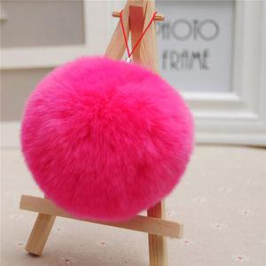 Fashion Genuine Colorful Rabbit Fur Ball Key Chain pictures & photos