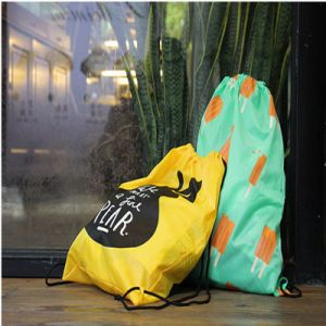 Cheap Colorful Printed Polyester Drawstring Dustproof Pouch Bag pictures & photos