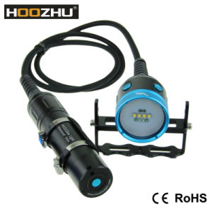 Hoozhu Hv33 Canister Diving Video Light Max 4000lm Waterproof 120m Dive Light for Video with Four Color Light